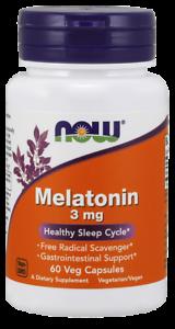 NOW-FOODS-Melatonin-3mg-60-Vegane-Kapseln-VERSAND-WELTWEIT