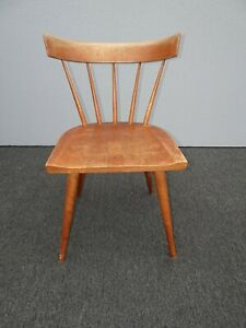 Details About Vintage Mid Century Modern Paul Mccobb Planner Group Chair W Spindle Backrest 1