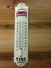 Thermometer emaille, enamel, porcelain ware, Fiat Servizio