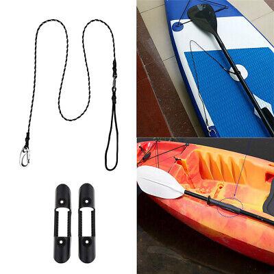 2pcs Black Oar Holder Patch Paddle Hook Clip For Inflatable Boat Kayak Canoe