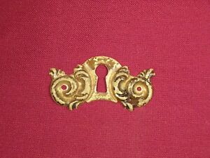 Vintage-Antique-Lock-Escutcheon-Brass-Key-Hole-Cover-Furniture-Drawer-Hardware