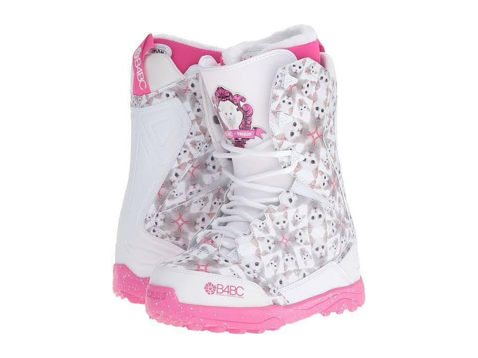 botas de Snowboard Snowboard Snowboard ThirtyTwo mujeres Pestañas B4BC (8.5) blancoo rosado 43137c