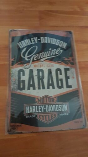 Harley Davidson Garage Metal Sign Plaque Garage Shed Man Cave Motorcycle Retro