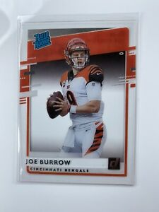 2020 Panini Chronicles Joe BURROW Clearly Donruss Rated Rookie Card RC Bengals🔥