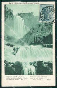 Terni Città Cascata delle Marmore Inverno Alterocca 37658 cartolina RT3942