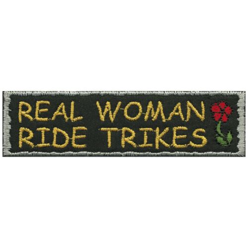 Patch parches aplicación 10,5 x 2,5 cm ☆ Real Woman Ride trikes ☆ 06157