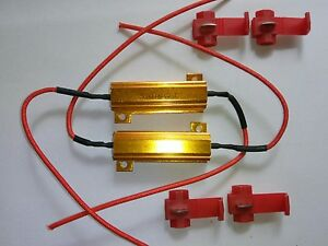 2x-50-W-6-Ohm-resistencia-de-carga-LED-indicador-de-senal-Hyper-INTERMITENTE-PARPADEO-CANBUS