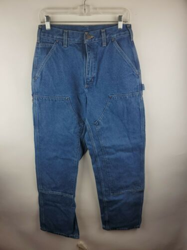 Carhartt Double Knee Distressed Denim Work Jeans M