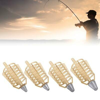 Carp Fishing Feeder Lure Cage Feeders Trap Basket with Lead Sinker Bait CageJB