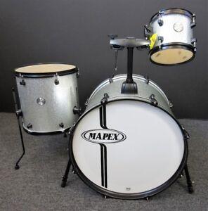 Mapex Voyager Series 3 Piece Drum Set Crystal Sparkle Silver