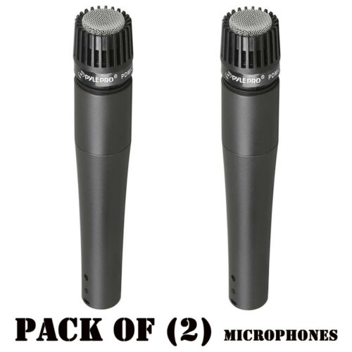 Lot of 2 Pyle PDMIC78 Professional Moving Coil Dynamic Microphone W// 15Ft XLR