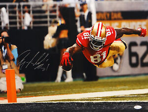 Anquan-Boldin-Autographed-49ers-16x20-Diving-For-End-Zone-Photo-JSA-W-Auth