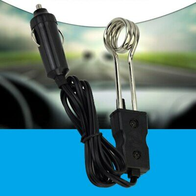 2Pc 12V//24V Mini Portable Electric Car Boiled Water Immersion Heater Traveling