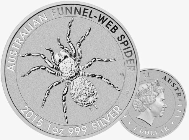 Funnel Web Spider Silver Coin Bullion 2015 Australian Perth Mint 1oz 99.9
