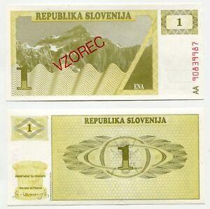 1 Tolarjev Slowenien 1990 SPECIMEN / VZOREC  unc, Pick 1  S1