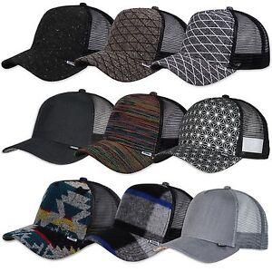 Djinns-Hft-Trucker-Cap-Costola-Fermata-Morbido-Aztec-a-Quadri-Tweed-Gomma-Paris