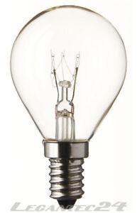 Tropfenlampe-230V-40W-E14-45x80mm-klar-Gluehbirne-Lampe-Birne-230Volt-40Watt-neu