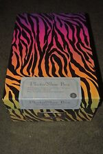 Multi-Colored Zebra Print Multi-Purpose Storage Box NEW SEALED Photo Box