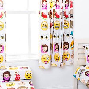 Emoji-emoticones-children-039-s-kids-rideaux-66-034-x72-034-tiebacks-literie-nurserie-stores