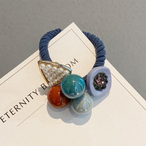 Femmes Belle élastique Cheveux Corde anneaux de caoutchouc épais Bande Queue de Cheval Cheveux Accessoire