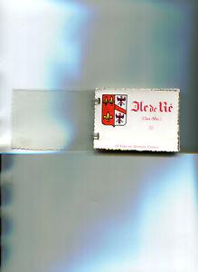 Carnet-de-12-vues-en-bromure-couleur-de-l-039-Ile-de-Re-Annees-1955-Port-GRATUIT
