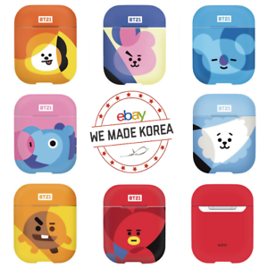 BT21 Character Airpod Hard Case Cover Skin 7types Official KPOP Authentic Goods