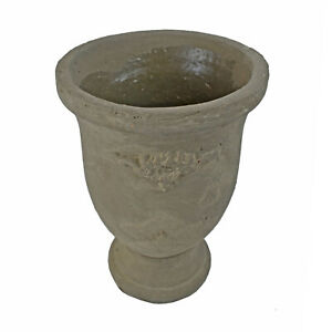 Accent-Vase-Stoneware-Cup-Decor-Outdoor-Indoor-Antique-style-Flower-Vase