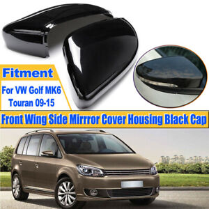 Gloss Black Door Mirror Cover Cap Housing For Vw Gti Golf Mk6 10 14 Touran 09 15 Ebay