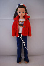 Pedigree SINDY doll Basic brunette hair in MIX N MATCH outfit 70's