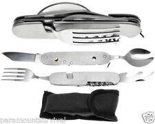 7-IN-1 Multi Functional Camping Tool Spoon, Fork, Knife, Can Opener and More!