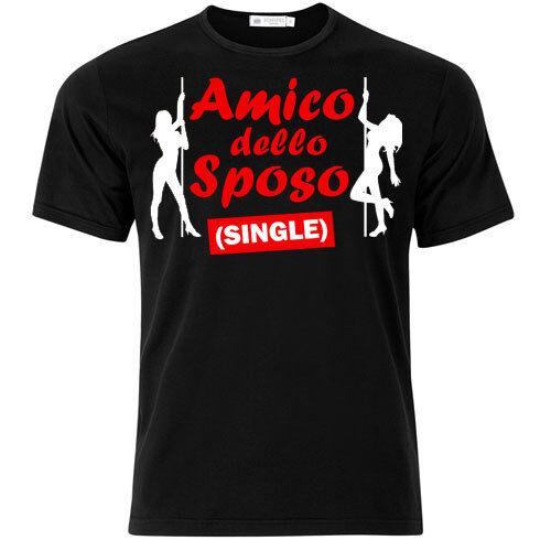 T-shirt uomo Amico dello sposo single PERSONALIZZABILE festa addio al celibato!