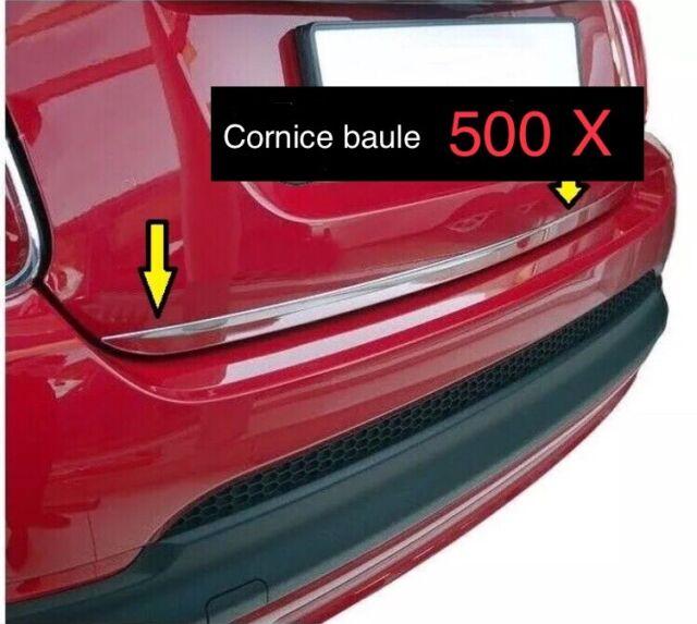 Modanatura cornice in  acciaio Cromo cofano+paraurto anteriore per  Fiat 500X