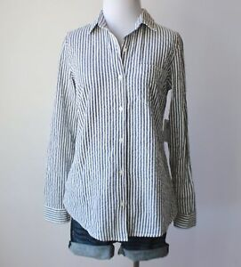 74e6925d Image is loading NWT-OLD-NAVY-Pinstripe-Seersucker-Button-Down-Collar-