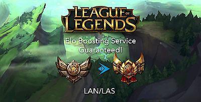 LEAGUE OF LEGENDS - ELO BOOST FOR LAN/LAS (Quick, Discreet