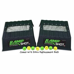 RampShot Plus Outdoor Backyard Toss Game Set for 4 Players w/ Extra Set of Balls