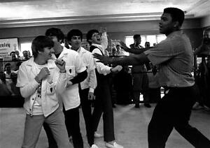 Image Is Loading Muhammad Ali Meets The Beatles 1964 Art Canvas