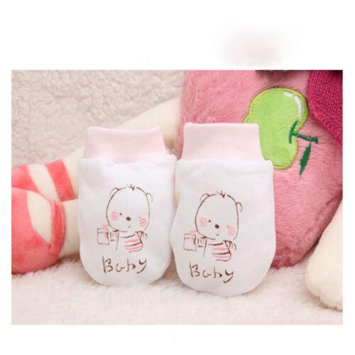 1 Paar Neugeborene Anti Kratzer Baby Handschuhe Baumwollhandschuhe Für Kinder