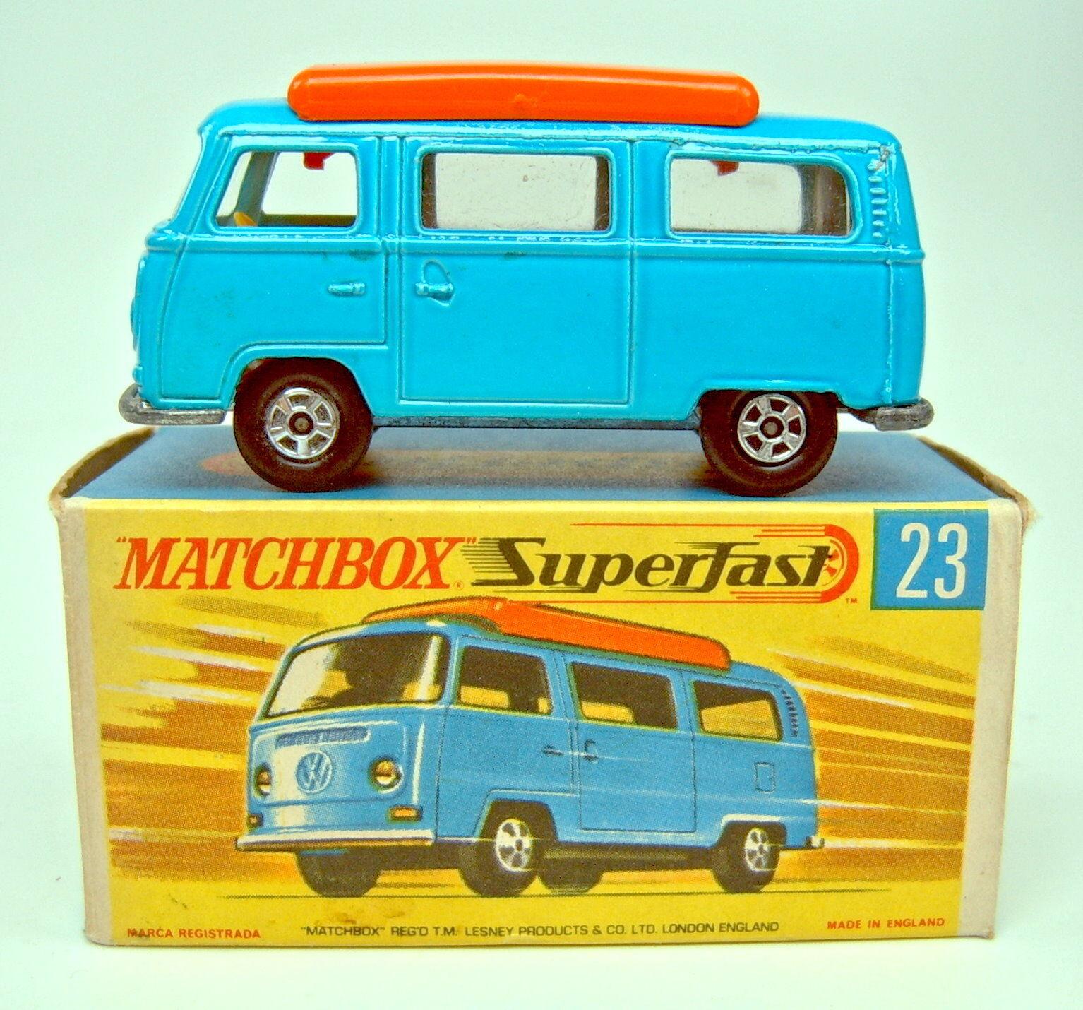precio al por mayor Matchbox SF nº nº nº 23a VW Camper azul naranja implantación top en Box  descuento de ventas en línea