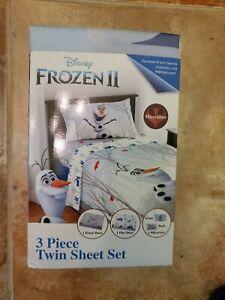 Disney Frozen 2-3 Piece Twin Microfiber Sheet Set Olafs Adventure