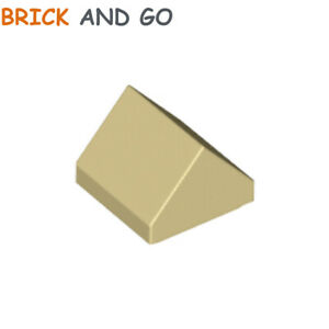 25 PIECES TAN-#35464-SLOPE 45 1 x 1 DOUBLE NEW LEGO