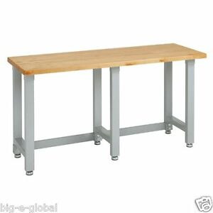 Image Is Loading Ultra Heavy Duty Commercial Garage Wooden Top Workbench