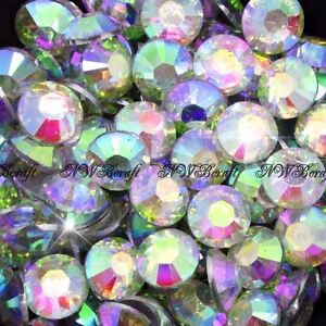 Crystal-AB-1000pcs-Resin-Rhinestones-Beads-Flat-Back-Nail-Art-Craft-Gems