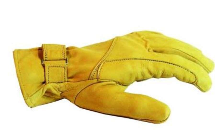 Cow-boy de gants en cuir western jaune gants en cuir gr. xxl doublé