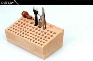Leather-Craft-Wooden-Stand-Holder-Holding-Organiser-for-76-Leather-Punch-Tool