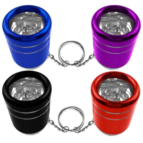 Mini lampe de poche avec 6 DEL/'s et porte clé petite lampe de poche Hell