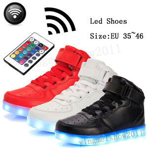 28d4bdf74 Unisex Control Remote LED Light Up Casual Shoes Men Women Luminous ...