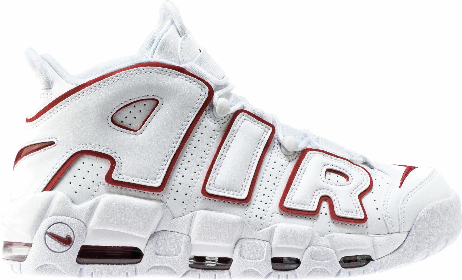 Nike Air More Uptempo 96 White Varsity Red Size 13. 921948-102 Pippen