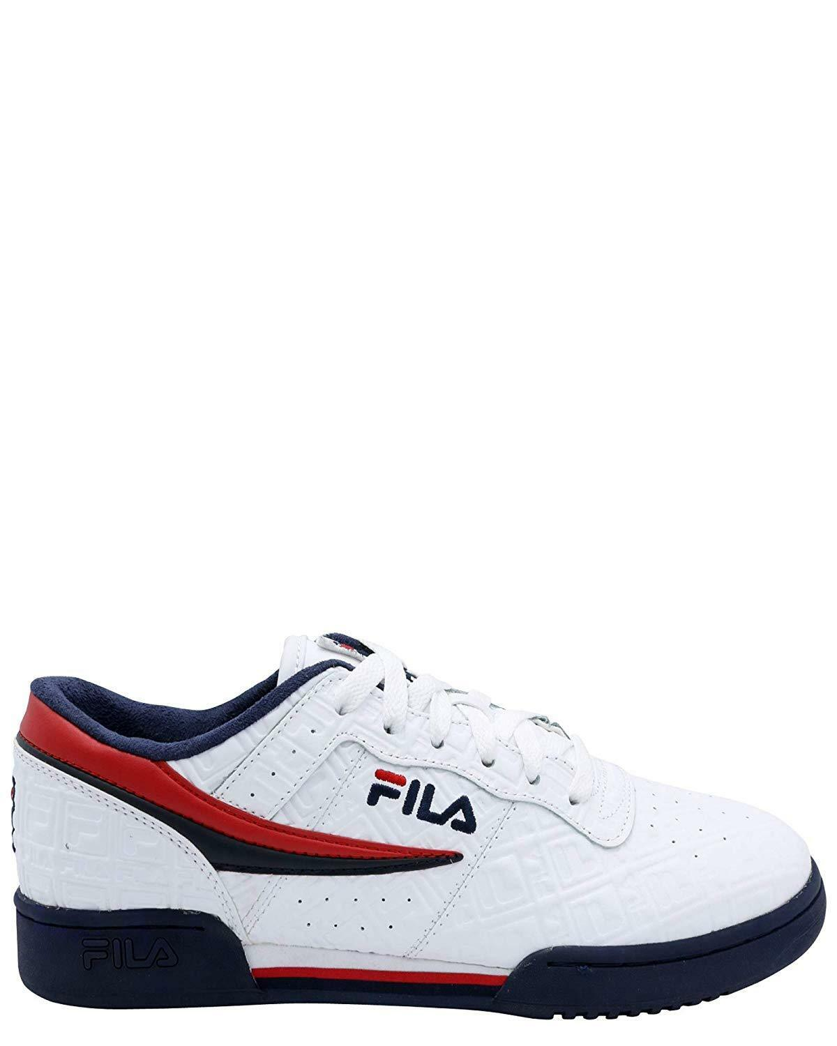 Fila Original Fitness Embossed Small F-Box White/Navy-Red (1FM00128-125)