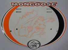 Mongoose Number Plate Maurice Valve Caps Stickers for BMX Old Mid School Bike