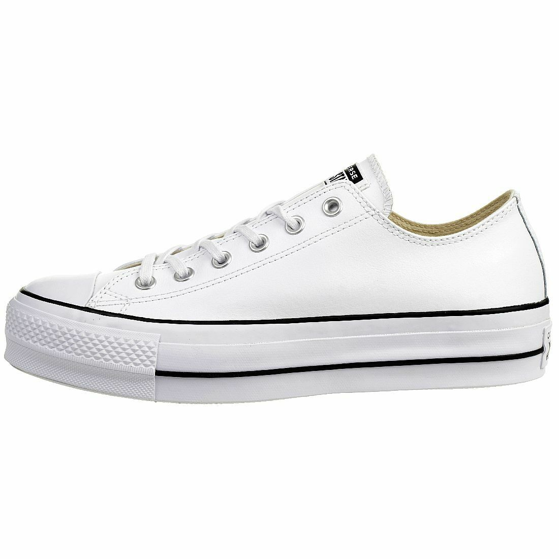 Converse C Taylor All Star LIFT CLEAN OX Chuck Turnschuhe Turnschuhe Turnschuhe Leder plateau 561680C 113988